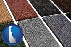 delaware map icon and carpet samples