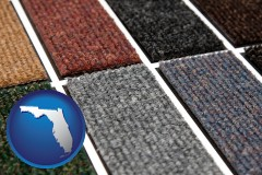 florida map icon and carpet samples