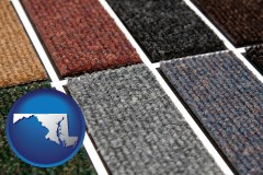 maryland map icon and carpet samples