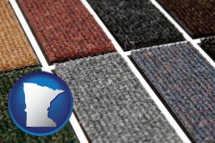 minnesota map icon and carpet samples