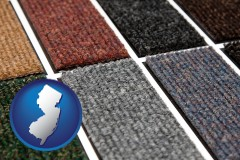 new-jersey map icon and carpet samples