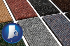 rhode-island map icon and carpet samples