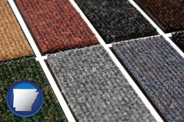 carpet samples - with Arkansas icon