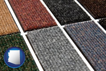 carpet samples - with Arizona icon