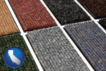 carpet samples - with California icon