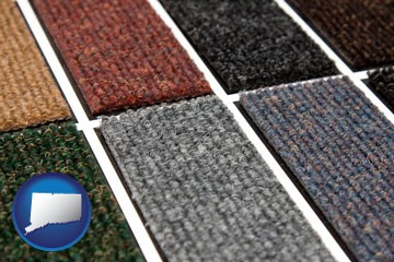 carpet samples - with Connecticut icon