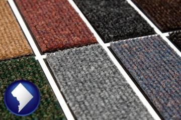 carpet samples - with Washington, DC icon