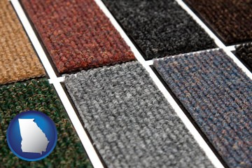 carpet samples - with Georgia icon