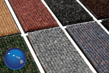 carpet samples - with Hawaii icon