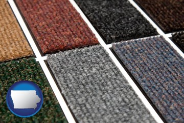 carpet samples - with Iowa icon