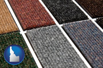 carpet samples - with Idaho icon