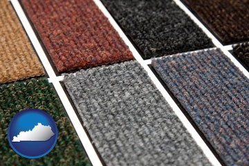 carpet samples - with Kentucky icon
