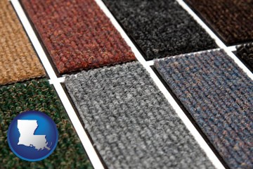 carpet samples - with Louisiana icon