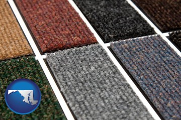 carpet samples - with Maryland icon