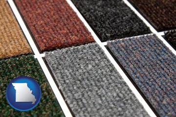 carpet samples - with Missouri icon