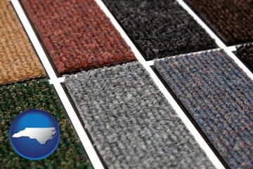 carpet samples - with North Carolina icon