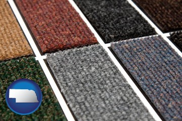 carpet samples - with Nebraska icon