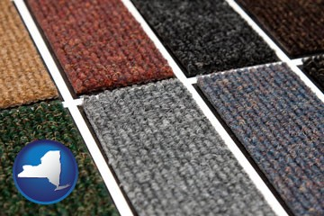 carpet samples - with New York icon