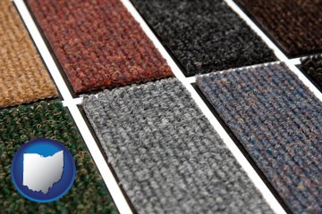 carpet samples - with Ohio icon