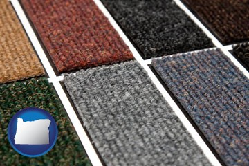 carpet samples - with Oregon icon