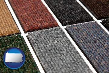 carpet samples - with Pennsylvania icon