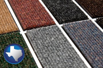 carpet samples - with Texas icon