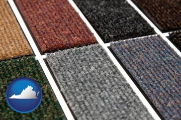 carpet samples - with Virginia icon