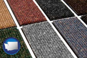 carpet samples - with Washington icon