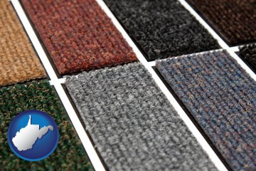 carpet samples - with West Virginia icon