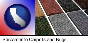 Sacramento, California - carpet samples